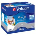 Obrázok pre výrobcu Verbatim BluRay BD-R [ jewel case 10 | 25GB | 6x | PRINTABLE SURFACE HARD COAT ]