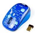 Obrázok pre výrobcu E-Blue Myš Monster Babe, 1 ks AA, 2.4 [GHz], optická, 3tl., 1 koliesko, bezdrôtová, modrá, 1480dpi, NANO prijímač