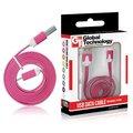 Obrázok pre výrobcu GT kábel USB/micro USB 1m tmavo ružový