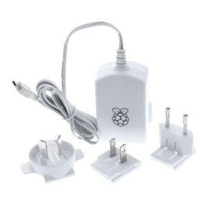 Obrázok pre výrobcu RASPBERRY USB adaptér pre Raspberry Pi 2,5A biely