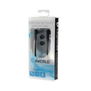 Obrázok pre výrobcu 4World Kanálové slúchadla do uší OneColor Flat | jack 3.5mm | 1.2m | čierny