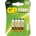 Obrázok pre výrobcu GP alkalická baterie 1,5V AAA (LR03) Super 4ks blistr