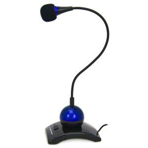 Obrázok pre výrobcu Esperanza EH130B CHAT stolný mikrofón s ohybným ramenom a vypínačom