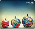 Obrázok pre výrobcu Podložka pod myš Natec Apples, černá, 220x180mm