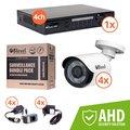 Obrázok pre výrobcu 8level KIT outdoor AHD camera 4xAHB-E1080-363-1  1xDVR-AHD-1080P-041-1