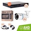 Obrázok pre výrobcu 8level KIT outdoor AHD camera 4xAHB-E1080-VF4-1  1xDVR-AHD-1080P-081-1