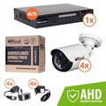 Obrázok pre výrobcu 8level KIT outdoor AHD camera 4xAHB-E720-363-3 1xDVR-AHD-1080P-041-1