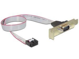 Obrázok pre výrobcu Gembird sériový port DB9 na nízkoprofilovou konzolu, 40 cm plochý kábel
