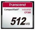 Obrázok pre výrobcu Transcend 512MB INDUSTRIAL CF300 CF CARD, high speed 300X paměťová karta (SLC)