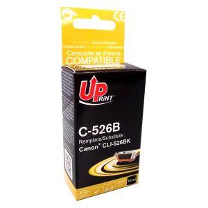 Obrázok pre výrobcu UPrint kompatibil ink s CLI526BK, black, 10ml, C-526B, pre Canon Pixma MG5150, MG5250, MG6150, MG8150, s čipom