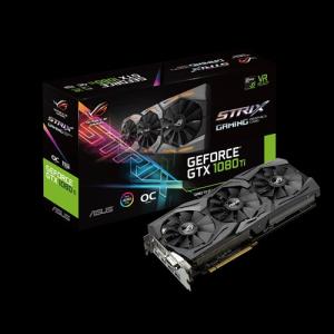 Obrázok pre výrobcu ASUS ROG-STRIX-GTX1080TI-O11G-GAMING 11GB/352-bit, GDDR5X, DVI, 2xHDMI, 2xDP