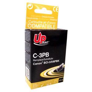 Obrázok pre výrobcu UPrint kompatibil ink s BCI6BK, black, 14ml, C-3PB, pre Canon S800, 820, 820D, 830D, 900, 9000, i950