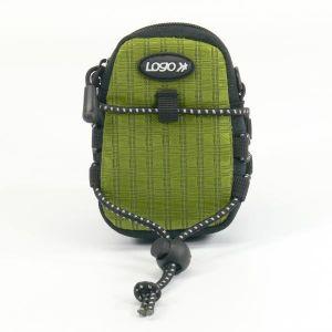 Obrázok pre výrobcu Púzdro na fotoaparát, nylón, zelené, 10,7 x 6,2 x 2,4cm LOGO