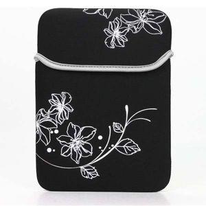 """Obrázok pre výrobcu Trendy obal na notebook, 12,1"""", SLEEVE, čierny s kvetmi z neoprénu"""
