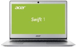 "Obrázok pre výrobcu Acer Swift 1 Pentium N4200/4GB/A/128GB SSD/A/HD Graphics/13"" FHD IPS LED/BT/W10 Home/Silver"