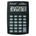 Obrázok pre výrobcu Kalkulačka Rebell, RE-HC208 BX, čierna, vrecková, osemmiestna