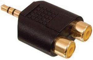 Obrázok pre výrobcu Valueline AC-010GOLD - Stereo Audio adaptér 3.5mm zástrčka - 2x CINCH zásuvka, černá