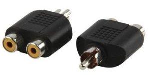 Obrázok pre výrobcu Valueline AC-016 - Mono Audio adaptér CINCH zástrčka - 2x CINCH zásuvka, černá