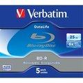 Obrázok pre výrobcu Verbatim Blu-ray BD-R DataLife [ Jewel Case 5 | 25GB | 6x | WHITE BLUE SURFACE ]