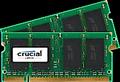 Obrázok pre výrobcu SO-DIMM kit 4GB DDR2-667 MHz Crucial CL5, 2x2GB