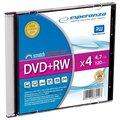 Obrázok pre výrobcu Esperanza DVD+RW [ slim jewel case 1 | 4.7GB | 4x ] - kartón 200 ks