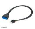 Obrázok pre výrobcu AKASA - USB 3.0 na USB 2.0 adaptér