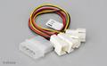 Obrázok pre výrobcu Akasa - 4-pin CPU Molex na 4 x 3-pin fan