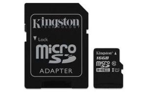 Obrázok pre výrobcu Kingston 16GB microSDHC CANVAS Memory Card 80MB/10MBs- UHS-I class 10 Gen 2