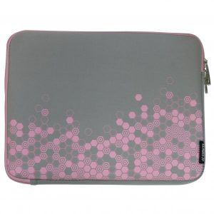 """Obrázok pre výrobcu Obal na notebook 12,1"""" Graphic, šedo-ružový z neoprénu, Logo"""