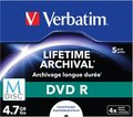 Obrázok pre výrobcu VERBATIM DVD R 4,7 GB (120min) M-Disc 4x Printable jewel box, 1ks