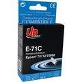 Obrázok pre výrobcu UPrint kompatibil ink s C13T07124011, cyan, 10ml, E-71C, pre Epson D78, DX4000, DX4050, DX5000, DX5050, DX6000, DX605