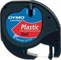 Obrázok pre výrobcu Dymo originál páska do tlačiarne štítkov, Dymo, 91203, S0721630, čierny tlač/červený podklad, 4m, 12mm, LetraTag plastová páska
