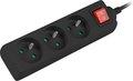 Obrázok pre výrobcu Přepěťová ochrana Lanberg PS1 3 zásuvky 1.5m vypínač černá
