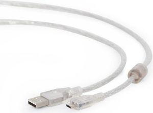 Obrázok pre výrobcu Gembird kábel USB 2.0 A (M) -> Micro-B USB 2.0 (M), pozlátené konektory, 1.8m