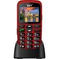 Obrázok pre výrobcu iGET SIMPLE D7 Red, seniorský, Bluetooth, FM rádio, kamera, svítilna, výdrž 15 dní,microSD, stojánek