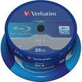Obrázok pre výrobcu Verbatim Blu-ray BD-R DataLife [ Spindle 25 | 25GB | 6x | WHITE BLUE SURFACE ]