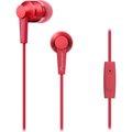 Obrázok pre výrobcu Pioneer stylová špuntová sluchátka, mikrofon červená