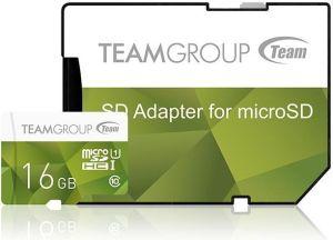 Obrázok pre výrobcu Team Group Pamäťová karta 16GB micro SDHC UHS-I + SD adaptér zelená