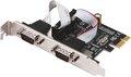 Obrázok pre výrobcu i-tec PCI-Express karta 2x Serial RS232, vč. low profile rámečku
