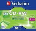 Obrázok pre výrobcu Verbatim CD-RW [ jewel case 10 | 700MB | 12x ]