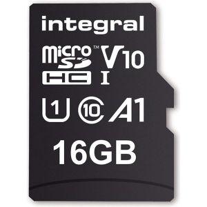 Obrázok pre výrobcu INTEGRAL Pamäťová karta micro SDHC 16GB 100V10, Read 100MB/s U1 V10 + ADAP