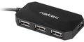 Obrázok pre výrobcu Natec USB HUB 4-Port LOCUST USB 2.0, Black