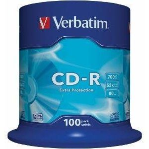 Obrázok pre výrobcu Verbatim CD-R (1ks), 700MB, 52x, DataLife, bulk