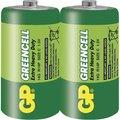 Obrázok pre výrobcu GP zinko-chloridová baterie 1,5V C (R14) Greencell 2ks fólie